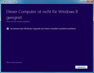 Windows 8 Setup auf VHD