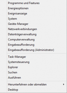 Windows 8.1 Admin Menu
