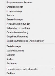 Windows 8.1 Admin Menu