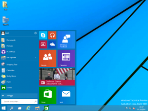 Windows 10 Preview Desktop