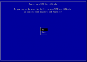 Trust openSUSE Certificate