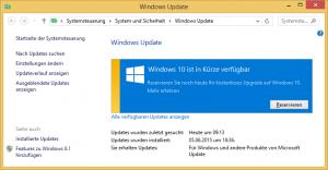 Upgrade auf Windows 10