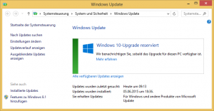 Windows 10-Upgrade reserviert