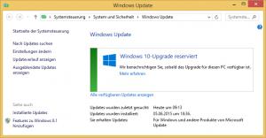 Windows 10-Upgrade reserviert