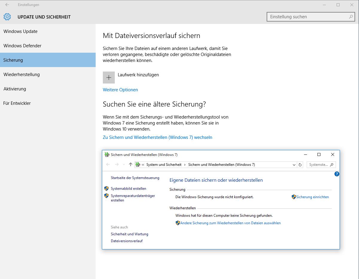 systemabbild erstellen windows 10