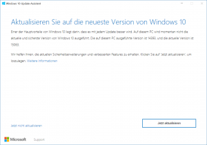 Windows 10 1704 Update Assistent