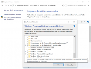 Windows-Features Subsystem für Linux